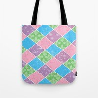 preppy Tote Bags featuring Dazed & Preppy by Raizhay Lough