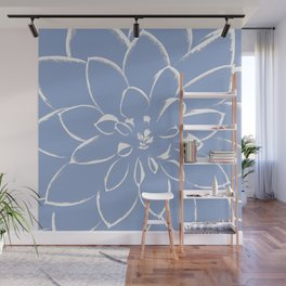 Dahlia Serenity Blue Wall Mural