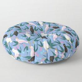 Cockatoos in the Garden Floor Pillow