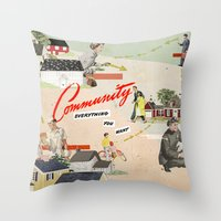 community Throw Pillows featuring Community by Heather Landis