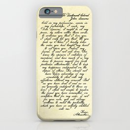 Alexander Hamilton Letter to John Laurens iPhone Case