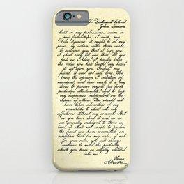 Alexander Hamilton Letter to John Laurens iPhone Case