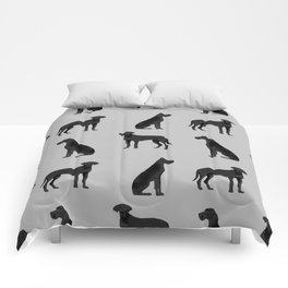 Great Dane black coat valentines day dog breed dog must haves Comforters