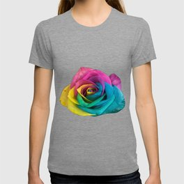 Iris Blue Cranberry Wattle Roses T-shirt