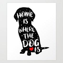 Funny Adorable Dog Saying Shirt - Meow Art Print