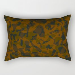 Spotted brown blots on a dark military. Rectangular Pillow