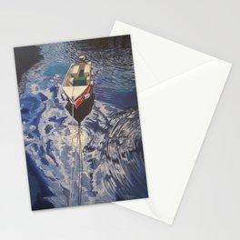 Boat on Lake Garda Stationery Cards