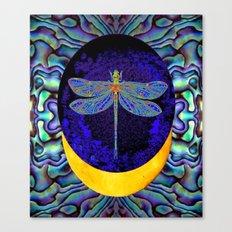Mystical Midnight- Blue Moon  Gossamer Dragonfly Art  Canvas Print