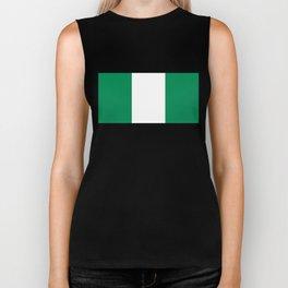 Nigerian Flag - Authentic High Quality HD Image Biker Tank