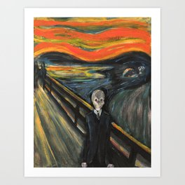 The Silence - When The Doctor Meets Munch Art Print