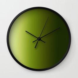 Ombre Greens 1 Wall Clock