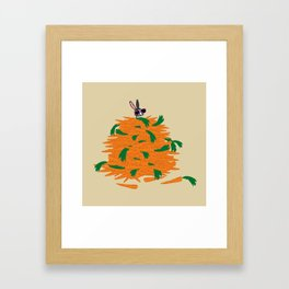 Cool bunny Framed Art Print