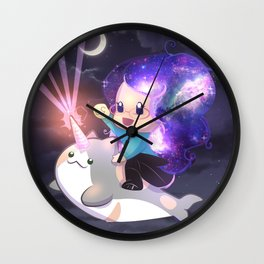 Space Narwhal Wall Clock