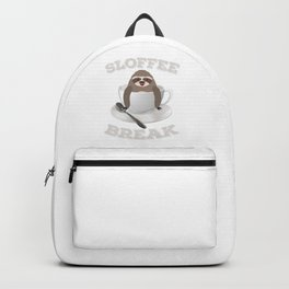 Sloffee Sloth Coffee Sloth In A Cup Christmas Gift Backpack