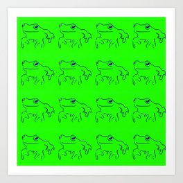 Green Frogs Art Print