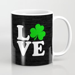 Love with Irish shamrock Coffee Mug