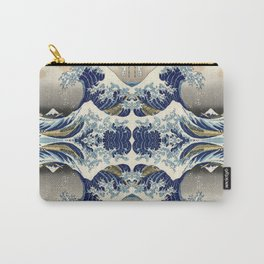 The Great Wave off Kanagawa Symmetry Carry-All Pouch
