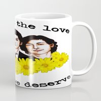 the perks of being a wallflower Mugs featuring Perks of being a Wallflower by Lydia Dick