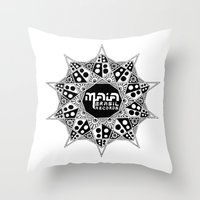 brasil Throw Pillows featuring Maia Brasil by Splund