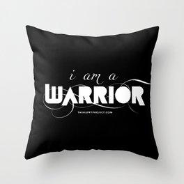 I Am A Warrior Throw Pillow