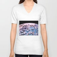 street V-neck T-shirts featuring STREET by Adam Charlton