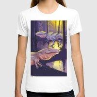 trex T-shirts featuring Giganotosaurus dinosaur by bytahsinkaya