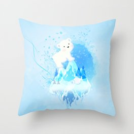 Save Polar Bear! Throw Pillow