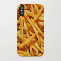 fries iPhone & iPod Cases featuring French Fries by I Love Decor