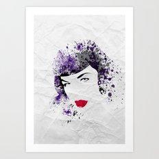 Queen of Pin-Up Art Print