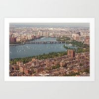 boston Art Prints featuring boston by shannonblue