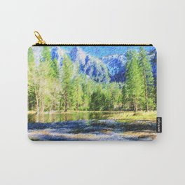 River in Yosemite Valley Carry-All Pouch