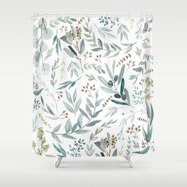 Eucalyptus pattern Duschvorhang