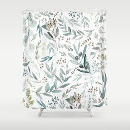 Eucalyptus pattern Shower Curtain