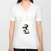 fireflies V-neck T-shirts featuring Fireflies by Freeminds