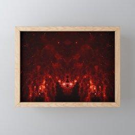 The Red Explosion Framed Mini Art Print