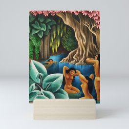 Bathing in the River by Miguel Covarrubias Mini Art Print