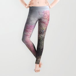 Wild Roses in Motion - Glitch Leggings