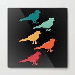 Bird watching Bird Day Fun Pun Metal Print