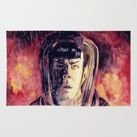 spock Area & Throw Rugs featuring Spock  by margaw