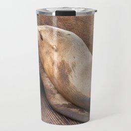 Sleeping Sea Lion Travel Mug