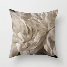Delicate White Throw Pillow
