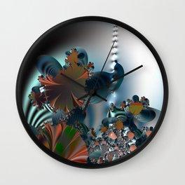 Follow me! -- Creatures in a fractal landscape Wall Clock
