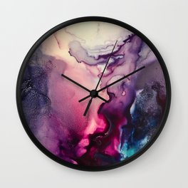 Mission Fusion - Mixed Media Painting Wall Clock