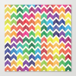 Watercolor Chevron Pattern IV Canvas Print