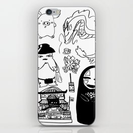 Spirit Away Characters iPhone Skin