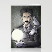tesla Stationery Cards featuring Tesla by Isara