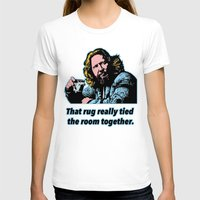 big lebowski T-shirts featuring Big Lebowski Quote 3 by Guido prussia