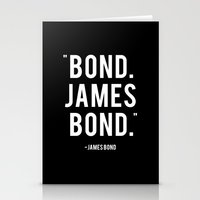 bond Stationery Cards featuring Bond James Bond Quote by Chris Bergeron