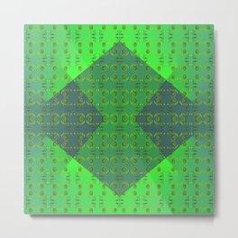 Light-green-pattern Metal Print