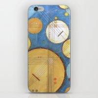 kandinsky iPhone & iPod Skins featuring doodling banjos by Beth Jorgensen